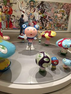 Dob In The Strange Forest (Blue DOB) 1999 & In The Land of The Dead, Stepping On The Tail Of A Rainbow 2014 by TAKASHI MURAKAMI