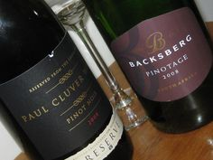 Delious Paul Cluver Pinot Noir 2008 & Backsberg Pinotage fine wines from the Cape Winelands South African Wine, Pinot Noir, Fine Wine, Wines, Red Wine, Cape, Cheese, Drink, Bottle