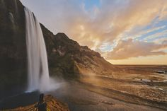Scenic Norwegian waterfall, Seljalandsfoss 12