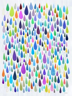8x10 $26 Rain Rain Abstract Art Print by twoems on Etsy, $26.00