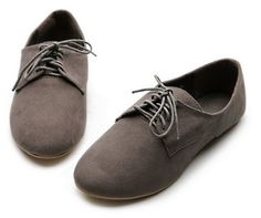 oxford loafers for women | Loafers Oxford Faux Suede Lace Ups Ballet Flats