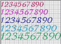 Schema punto croce numeri fiolex alfabeto, blackwork, punto croce, bullet j Cross Stitch Letter Patterns, Cross Stitch Numbers, Cross Stitch Letters, Cross Stitch Baby, Cross Stitch Charts, Cross Stitch Designs, Stitch Patterns, Cross Stitching, Cross Stitch Embroidery