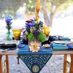 Amber + Purple  Bold Boho Table