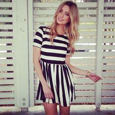 Vintage style striped dress