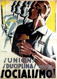 Asisbiz article about Artwork political posters Spanish Civil War Republican Poster 04 Ww2 Propaganda Posters, Communist Propaganda, Political Posters, Posters Tumblr, Naruto Poster, Spanish War, Spanish People, Spanish Posters, Civil War Art