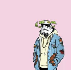 Pinterest: @jrobindaswag | hip hop illustration storm trooper streetwear