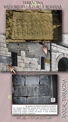 Bas-reliefs at the Roman door of Terracina, italy
