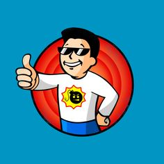 Serious Boy - T-Shirt on Teepublic https://www.teepublic.com/designs/454687 | vault boy pip boy vaultboy pipboy fallout video game video games videogame videogames fps first person shooter serious sam serioussam sam stone pc gaming gamer shirt tshirt