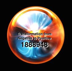 Grabovoi number sequence for Transformation from Negative to Positive.
