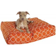 Duvet covers for dog beds. Just fill with old t-shirts or blankets. But who says they are only for dogs?!