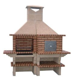 Brick Barbecue with Wood Fired Pizza Oven-Factory Prices-Stone barbecue with Oven. Barbecue, Brick Bbq, Grill Oven, Four A Pizza, Wood Oven, Outdoor Oven, Wood Fired Pizza, Backyard Bbq, Firewood