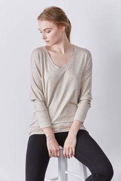 FREE SHIPPING - FREE RETURNS This one-size-fits-all long sleeve is an essential staple for every wardrobe. Oversized and cut from our extremely soft and silky modal - sustainably sourced fiber made of