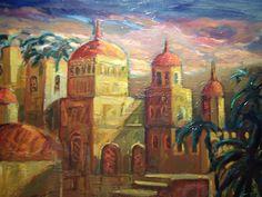 Cattedrali, olio su tela di Raiti Filippo