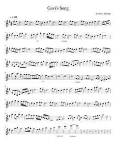 Sheet music made by vas_sitler109 for Violin