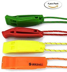 186aa8eb207 Emergency Whistle with Lanyard (4 pack)