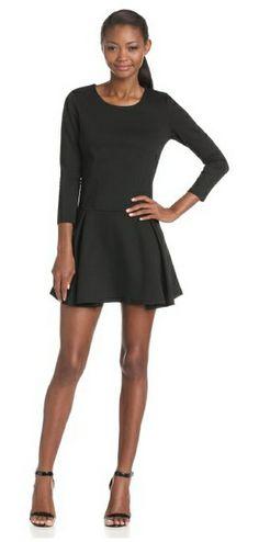 BCBGeneration Women's Flare Long Sleeve Dress
