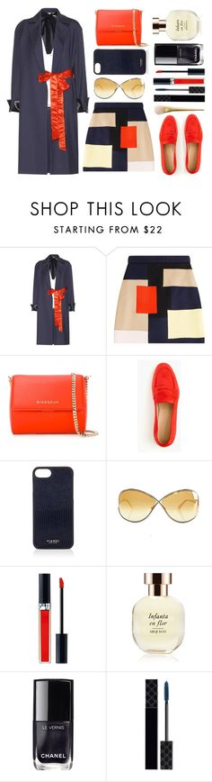 """""""Wool Coat and Top"""" by juliehalloran ❤ liked on Polyvore featuring Marni, MSGM, Givenchy, J.Crew, Vianel, Tom Ford, Christian Dior, Arquiste Parfumeur, Chanel and Gucci"""