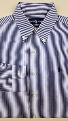 Ralph Lauren Brown Classic Dress Shirt Green Pony NWT