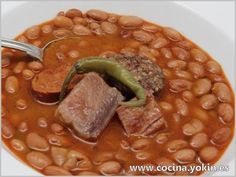 RED BEANS WITH SACRAMENTS - It is a traditional dish widely consumed worldwide in its different varieties. full, tasty and easy dish to make.