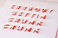 DIY posters with cut-out lettering Next time you want to draw something on your wall, try just put this in a frame