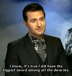 """""""I know it's true, I did have the biggest sword among all the dwarves."""" (gif set) funny"""