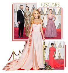 """""""Red Carpet at the Oscars 2017"""" by annynavarro ❤ liked on Polyvore featuring Veja, Olivia Collings Antique Jewelry, Burberry and Oscars"""