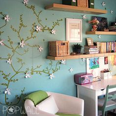 Flower-Tree-Branch-Wall-Decal-Wall-sticker-for-home-office-nursery-decoration