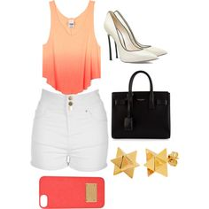 Summer Days by kimfowlkes on Polyvore featuring polyvore, fashion, style, Jane Norman, Casadei, Yves Saint Laurent and Elisabeth Bell
