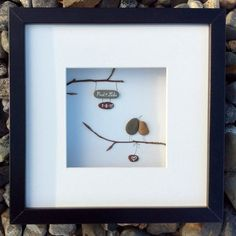 Unique wedding gift from Ireland, personalized pebble art love memento. Also for anniversary or engagement gift. Original, handmade, Irish