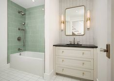 Quick Ship Salton Sea Tub Surround | Fireclay Tile Tile Tub Surround, Shower Surround, Fireclay Tile, Thin Brick, Tile Trim, Mid Century Modern Kitchen, Handmade Tiles, Tile Design, 3d Design