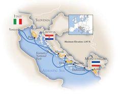 The beautiful Adriatic Sea and Dalmation Coast - Kotor, Montenegro to Venice, Italy