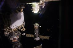 Intl. Space StationVerified account@Space_Station  26m26 minutes ago More Intl. Space Station Retweeted РОСКОСМОС Russia's Progress 66 cargo craft is pictured just moments before docking to the station today at 3:30am ET.