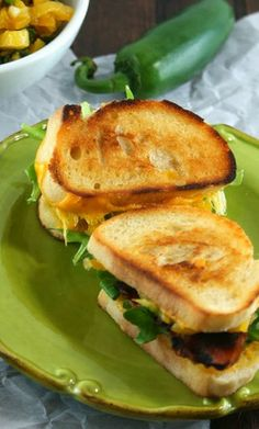 Mini Grilled Cheese with Jalapeno Apricot Relish