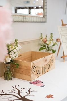 Card Box Holder Wooden Beautiful Country House Wedding http://www.fionasweddingphotography.co.uk/