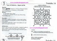 jogo de banheiro - squares | Receitas do Croche Croche!