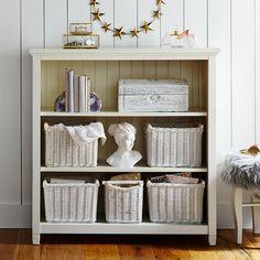 Beadboard 3-Shelf Bookcase, Simply White