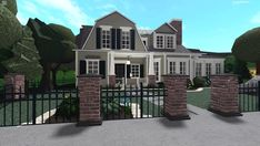 Two Story House Design, Sims House Design, Unique House Design, Home Building Tips, Home Building Design, Building Ideas, Luxury House Plans, New House Plans, House Plans With Pictures