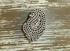 Paisley Stamp, Flower Stamp, Indian Printing Block, Hand Carved Wood Block Stamp, Wooden Textile Clay Pottery Ceramic Henna Stamp, India, by DelhiDaze, $12.00