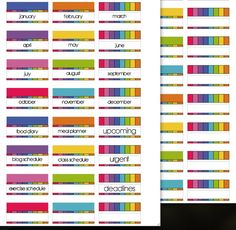Free Planner Tabs {blank and monthly} from scrappystickyinkymess