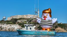 The Origin Story of the Giant Trump Chicken That Descended on Alcatraz