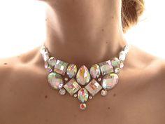 Simple Crystal AB Aurora Borealis Rhinestone by SparkleBeastDesign, $21.99