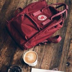 Ox red Kanken classic with a cup of coffee will make a day for you!