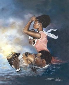Spiritual Support - I was honored to model for this picture. Edwin Lester is an wonderful artist.