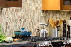Beautiful Tile back-splash adds warmth to this Modern Kitchen Remodel in Claremont Building Design, Building A House, Construction Group, Backsplash, Kitchen Remodel, Tile, New Homes, Modern, Beautiful