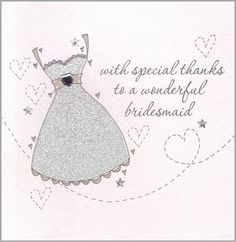 handmade bridesmaid thank you card by eggbert & daisy   notonthehighstreet.com