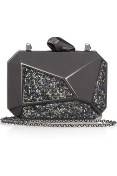 Kotur Pearce Swarovski crystal gunmetal-tone box clutch NET-A-PORTER.COM