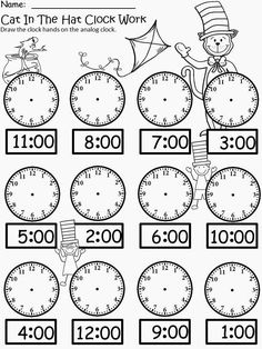 18 new Pins for your Telling Time board - Outlook Web App, light version First Grade Math Worksheets, 1st Grade Math, Kindergarten Worksheets, Learning English For Kids, English Lessons For Kids, English Worksheets For Kids, Math School, Homeschool Math, Math For Kids