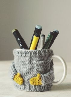 Mug sweater - knitted though, but so cute!