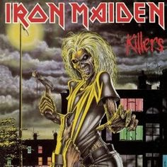 Top 50 Most Iconic Album Covers - IGN - Iron Maiden/Killers - The UK metal band's mascot looked merely shocked on their debut, but the snarling monster came into his own on this cover for their sophomore album. The menacing grin and axe poised to strike show little mercy for the poor sap clutching at Eddie's shirt from the ground beneath him.