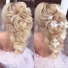 Elstile Long Wedding Hairstyles Wedding Hair Colors, Curly Wedding Hair, Wedding Hairstyles For Long Hair, Wedding Hair And Makeup, Wedding Updo, Prom Hairstyles, Ponytail Hairstyles, Weave Hairstyles, Wedding Rings